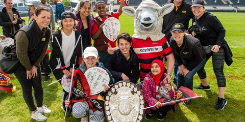 Canterbury rugby and youth from Christchurch with former refugee backgrounds
