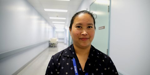 Bimala Bhujel at Palmerston North Hospital