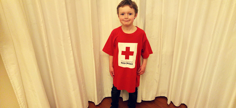 Team Red Cross' youngest runner