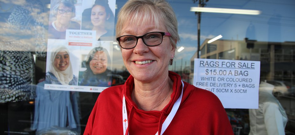 Refugee support volunteer Heather Colling
