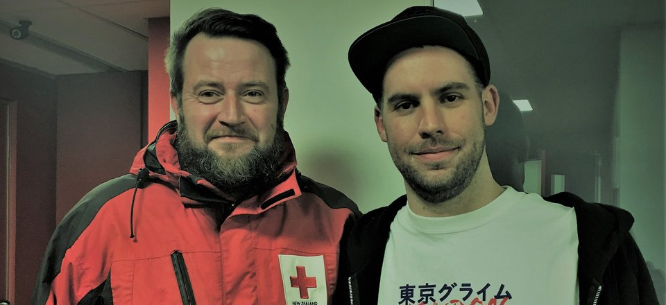 Paul Berrington, Red Cross, and DJ Vic Serotonin at Radioactive.fm