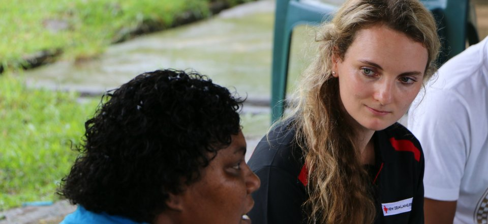 Aid worker Holly Griffin is in Fiji helping communities affected by Cyclone Winston