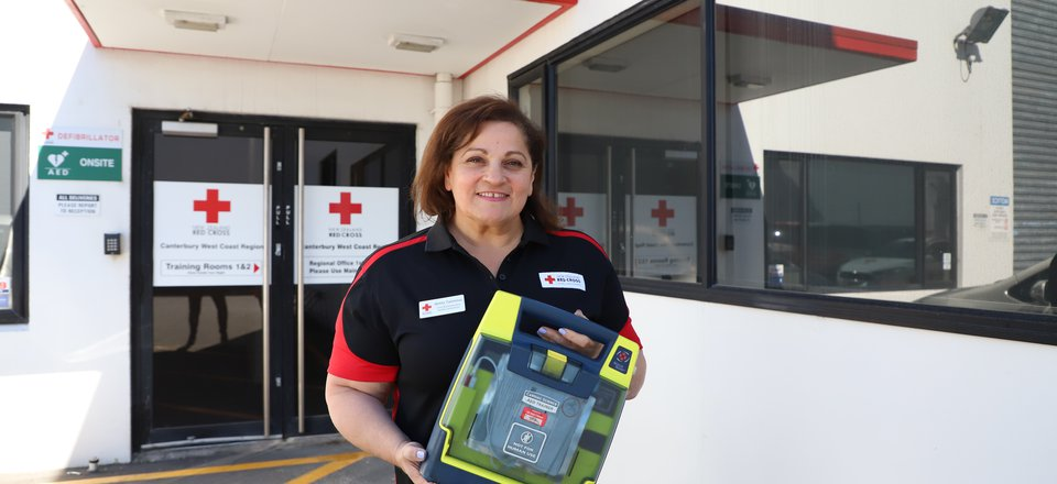 New Zealand Red Cross first aid trainer Betty Tannous.
