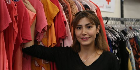 Red Cross Shop volunteer Zoya Mehrfard