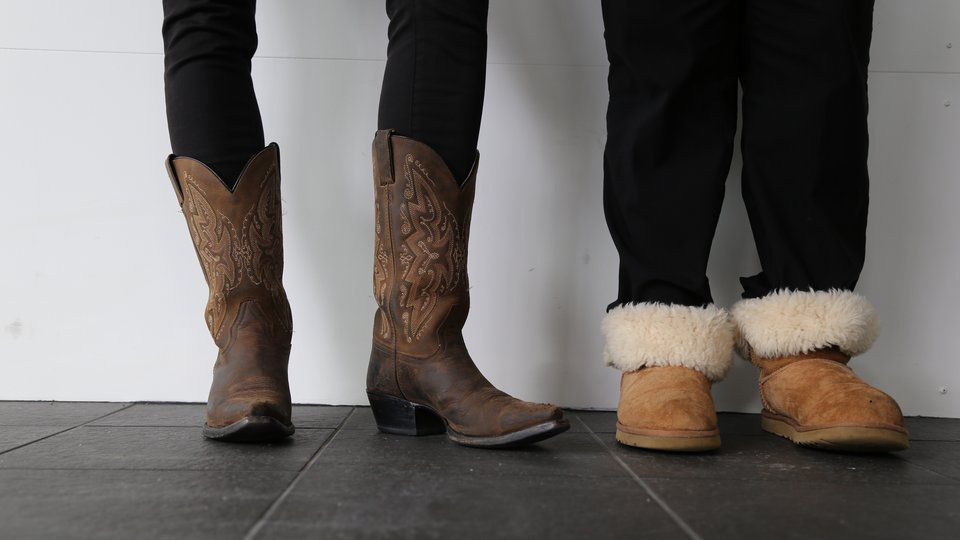 Cowboy boots & slippers for #standintheirshoes campaign