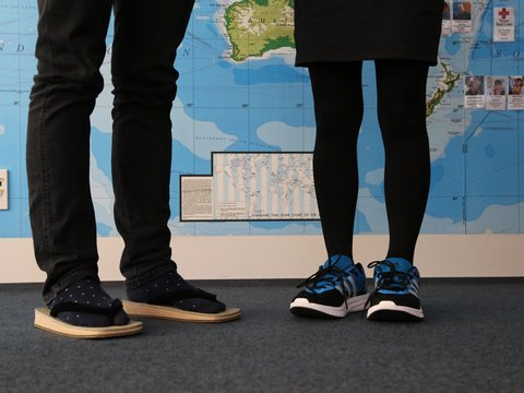 Kiwi and Japanese shoe swap for #standintheirshoes
