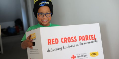 Johan, 6, Red Cross parcel, Hurricanes beanie.JPG