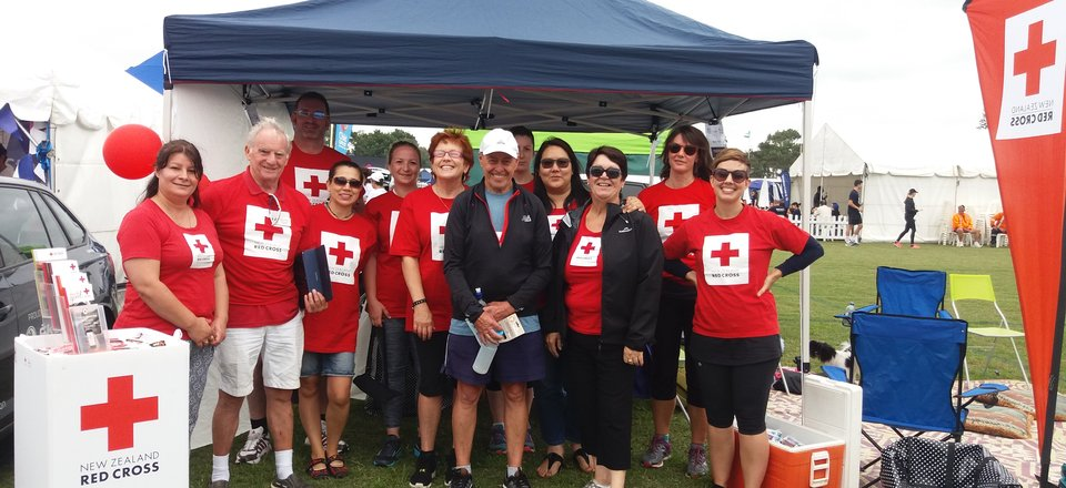 John McLean Red Cross team