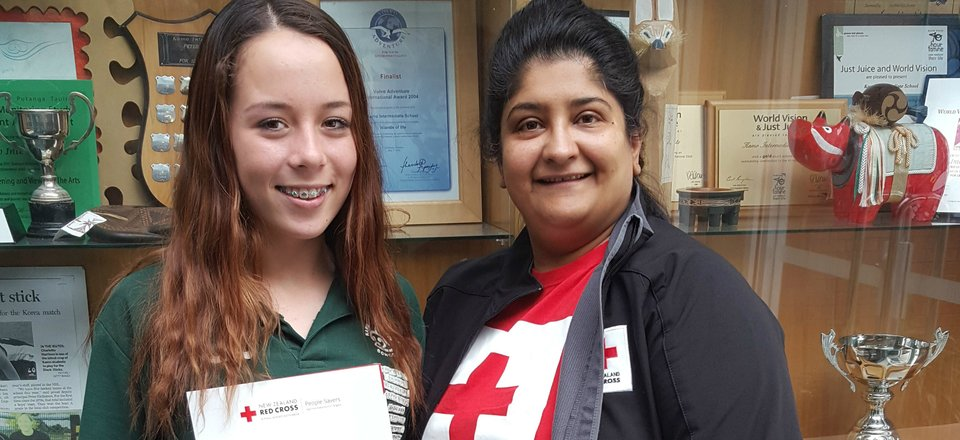 Amy Campbell, who responded to an emergency after completing a Red Cross People Savers course
