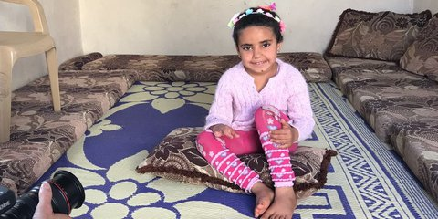 Young Syrian refugee Aya in Lebanon