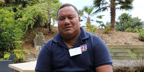 Tusi from Tuvalu Red Cross