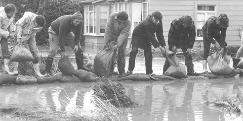 Marlborough floods sandbags
