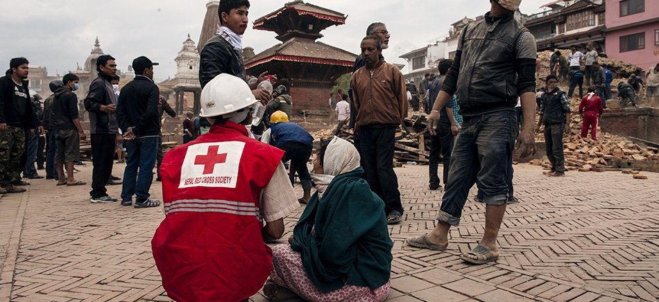 Red Cross in action following earthquake in Nepal