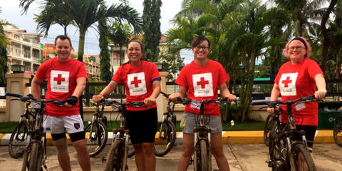 Four New Zealanders took on the challenge to cycle through Cambodia in October 2015, fundraising for New Zealand Red Cross at the same time.