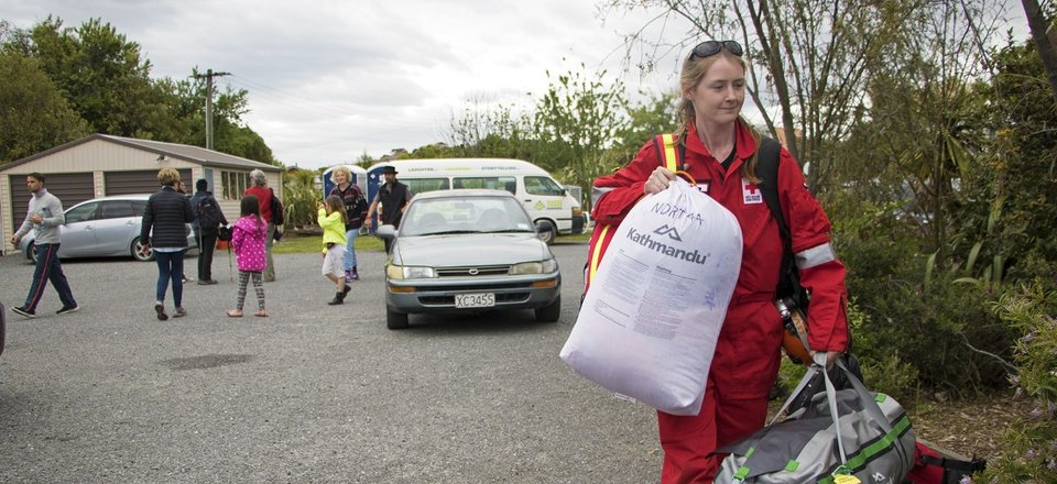 Red Cross DWST member in Kaikoura