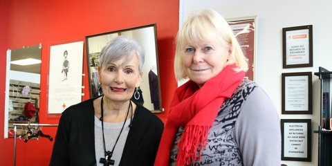 Red Cross Shop volunteers Alison and June