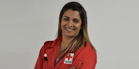 DWST volunteer Rupa Patel, who also helped out after Hurricane Katrina