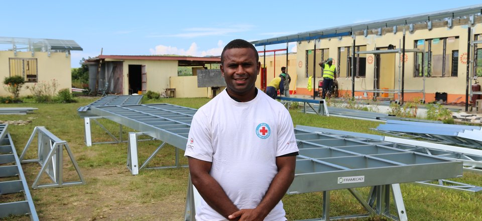Seru Sevutia, Fiji Red Cross