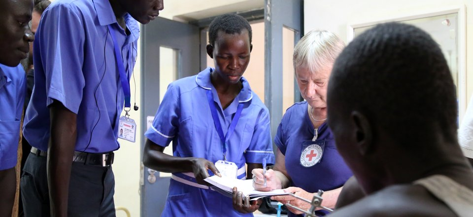 ICRC staff help in a hospital in South Sudan
