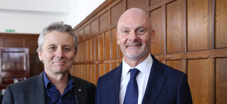 Tony Paine and Graham Zinsli at Graham's Florence Nightingale Medal investiture
