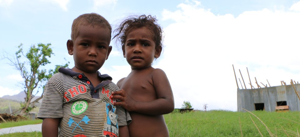 Two kids in Fiji