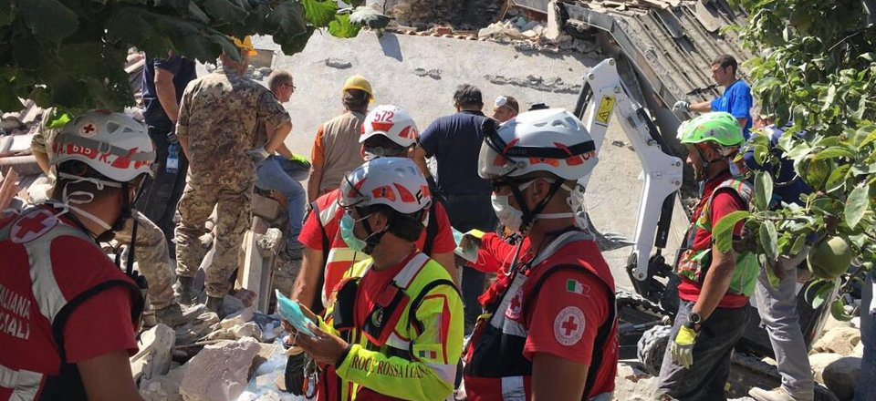 Italian Red Cross respond to the earthquake in Amatrice, 2016
